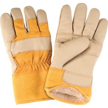 Zenith Safety Products - SAP290 Gants d'ajusteur en cuir fleur pour meubles doublés de boa/acrylique