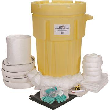 Zenith Safety Products - SAK245 Trousses industrielles de déversement mobile, 95 gallons - Huile seulement