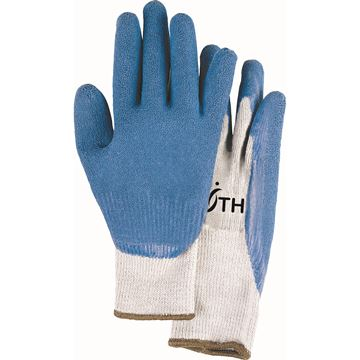 Zenith Safety Products - SAL256 Gants en tricot de coton/poly sans coutures de calibre 10 enduits de latex de caoutchouc naturel