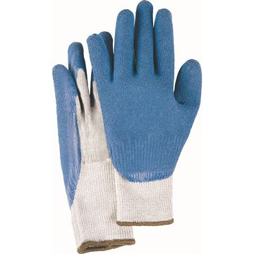Zenith Safety Products - SAL258 Gants en tricot de coton/poly sans coutures de calibre 10 enduits de latex de caoutchouc naturel