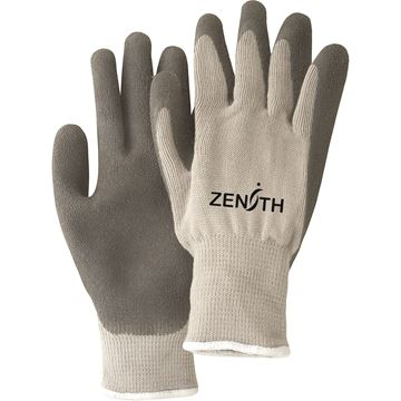 Zenith Safety Products - SAN434 Gants à doublure molletonnée et à paume enduite de latex de caoutchouc naturel