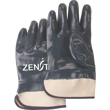 Zenith Safety Products - SAN446 Gants enduits de nitrile lourd, poignet de sécurité