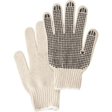 Zenith Safety Products - SAN482 Gants en poly/coton naturel & à pois