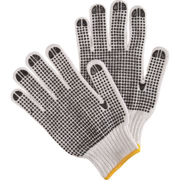 Zenith Safety Products - SAN493 Gants en poly/coton blanc & à pois