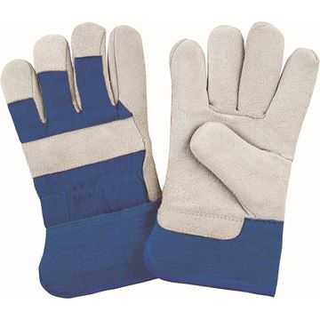 Zenith Safety Products - SAP242 Gants d'ajusteur en cuir de vache refendu doublés de mousse molletonnée