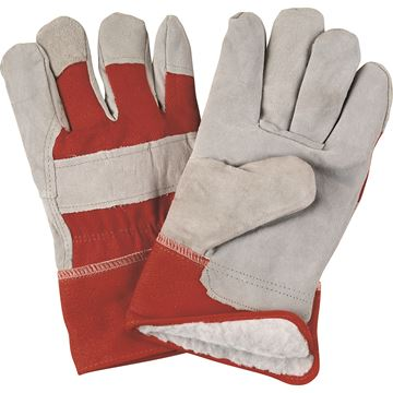 Zenith Safety Products - SAP247 Gants d'ajusteur en cuir de vache refendu doublés de boa/acrylique