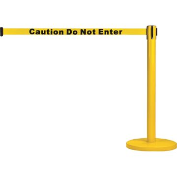 Zenith Safety Products - SAS229 Poteaux pour le contrôle des foules - poteau avec cassette (Caution Do Not Enter)