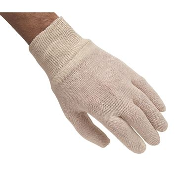 Zenith Safety Products - SEE790 Gants d'inspection en poly/coton à poignet en tricot