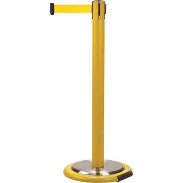 Zenith Safety Products - SEI764 Poteaux pour le contrôle des foules - poteau jaune avec cassette et roues