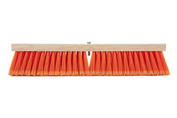 Balai-brosse haute-visibilité orange sécurité