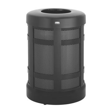 Rubbermaid Commercial Products Towne Series Free Standing Refuse Container FGH3BK